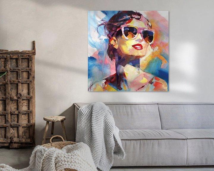 Beispiel: Dame mit Sonnenbrille von Branko Kostic