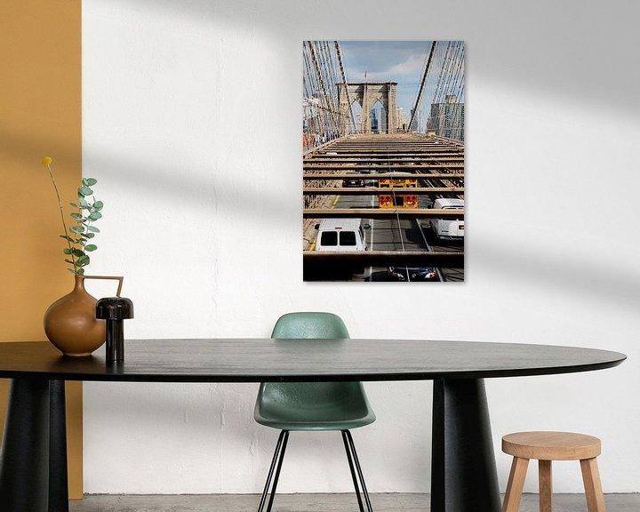 Sfeerimpressie: new york city ... brooklyn bridge V van Meleah Fotografie