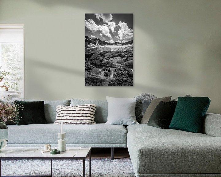 Sfeerimpressie: Bachfallen gletscher van Christian Reijnoudt