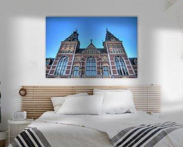 Rijksmuseum blauwe uur met maan van Dennis van de Water