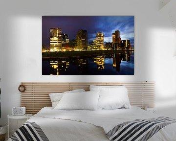 Amsterdam Zuid-as blauwe uur skyline van Dennis van de Water