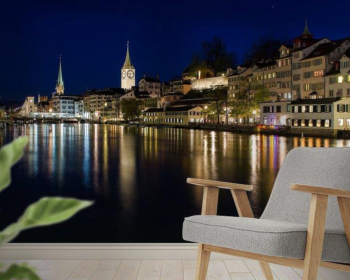 Sfeerimpressie behang: Zürich van Mark Bolijn