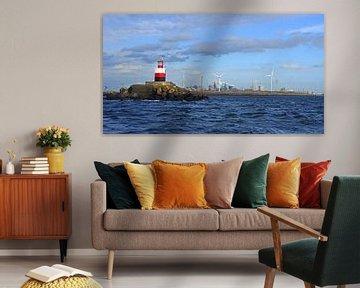 IJmuiden lighthouse with Tata Steel van Mirjam Hartog