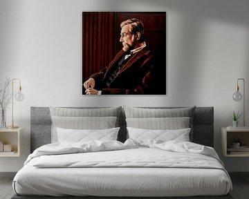 Daniel Day Lewis als Abraham Lincoln schilderij von Paul Meijering