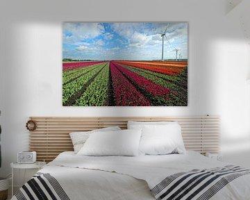 Hollands tulpenlandschap van Bob Bleeker