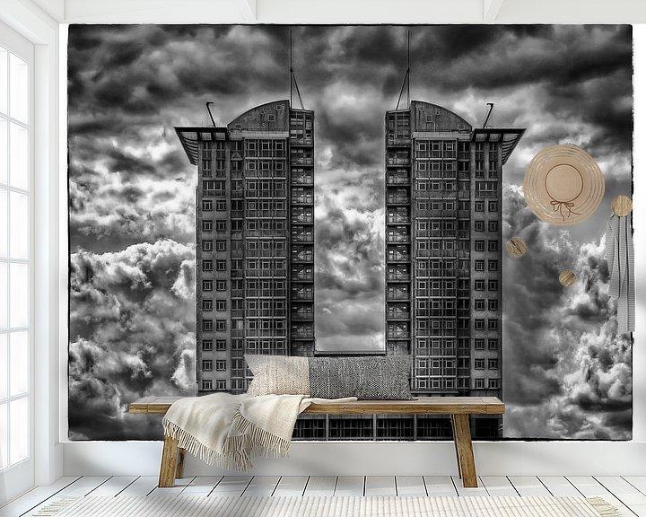 Sfeerimpressie behang: Berlin - a cloudy day van Carina Buchspies