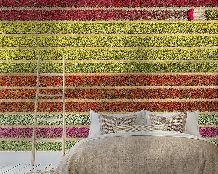 Sfeerimpressie behang: Färgfält med avbrott.  van Anders Andersson