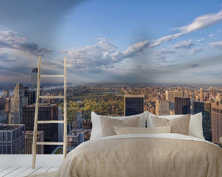 Sfeerimpressie behang: New York Skyline - View on Central Park van Tux Photography