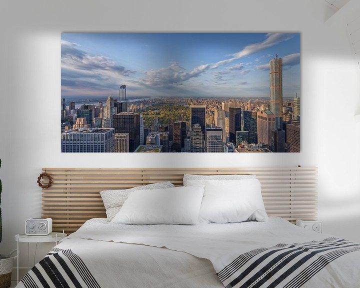 Sfeerimpressie: New York Skyline - View on Central Park van Tux Photography