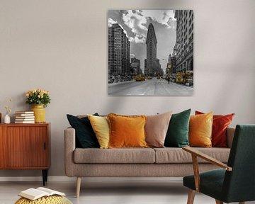 New York - Flatiron Building und Gelben Taxis von Tux Photography