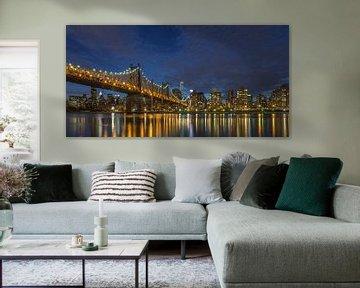New York Skyline - Queensboro Bridge  van Tux Photography