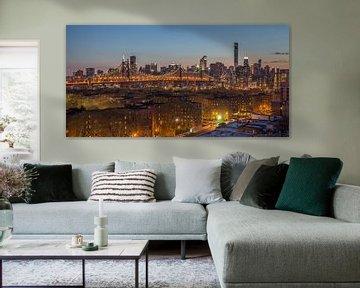 New York Skyline - Queensboro Bridge (2) van Tux Photography