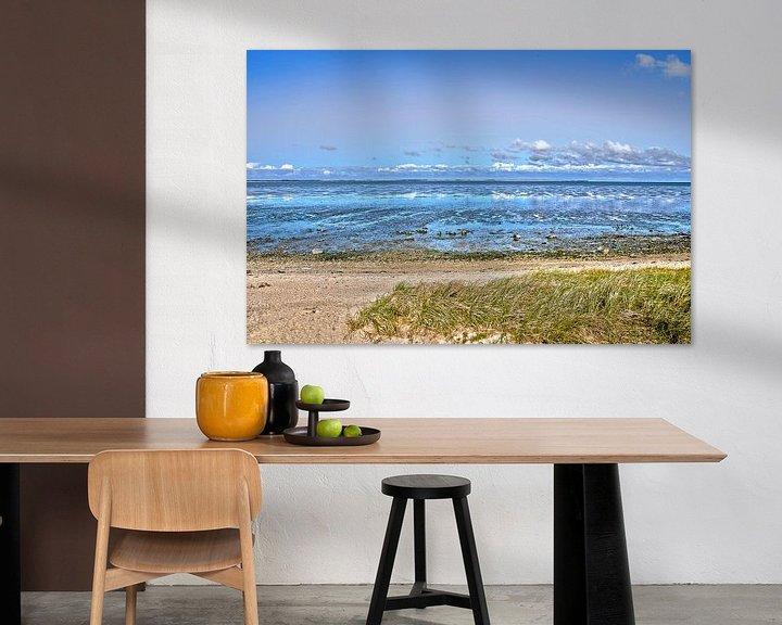 Sfeerimpressie: Het wad bij Noordzee-eiland Amrum van Frans Blok