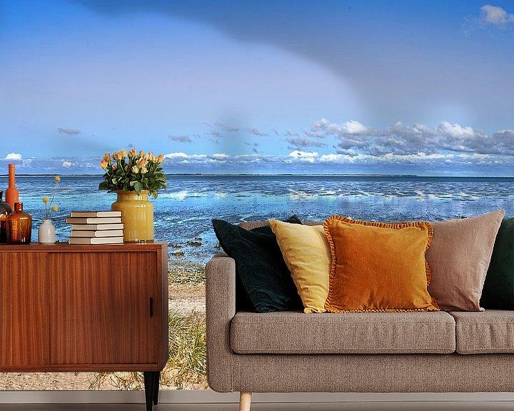 Sfeerimpressie behang: Het wad bij Noordzee-eiland Amrum van Frans Blok