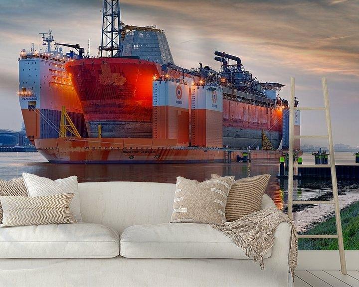 Sfeerimpressie behang: Dockwise Vanguard van Anton de Zeeuw