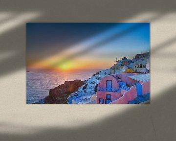 Oia Sunset III, Santorini van Erwin Blekkenhorst