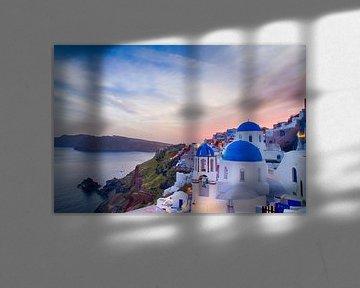Oia Sunset I, Santorini van Erwin Blekkenhorst