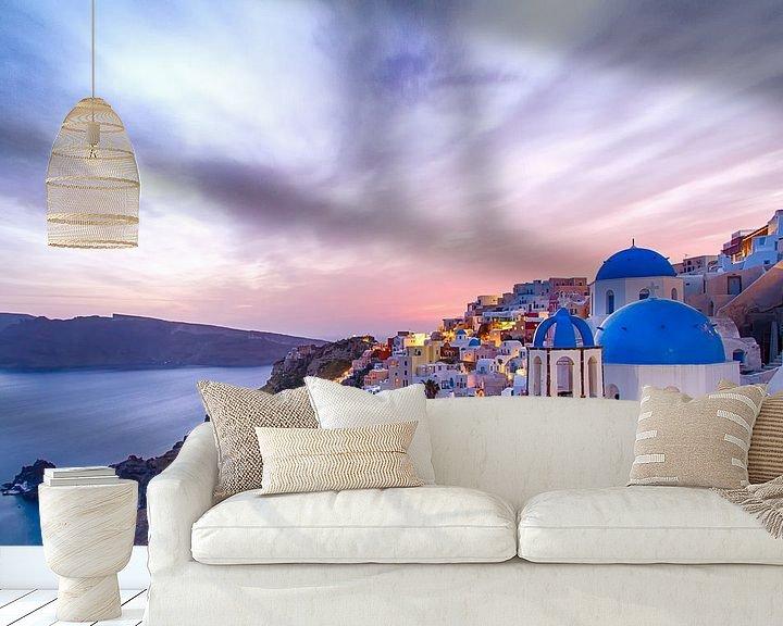 Beispiel fototapete: Oia Sunset II, Santorini von Erwin Blekkenhorst