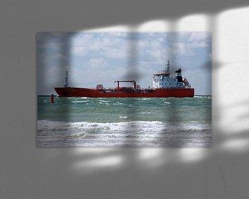 Vrachtschip op zee van MSP Canvas