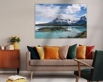 Pehoe Meer in Torres del Paine van Erwin Blekkenhorst