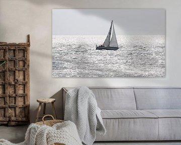 Zeilbootje op Oosterschelde van MSP Canvas