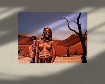 Himba Girls Of Namibia  sur Paul Meijering