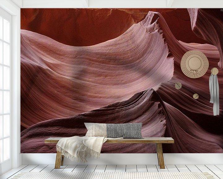 Sfeerimpressie behang: nature´s secrets IV van Meleah Fotografie