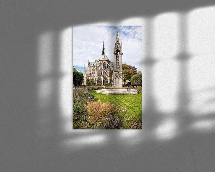 Impression: Notre Dame in Paris, France. sur Arie Storm