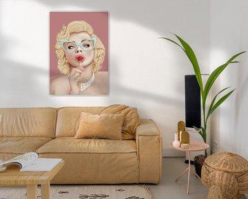 marilyn Monroe van poportret posters