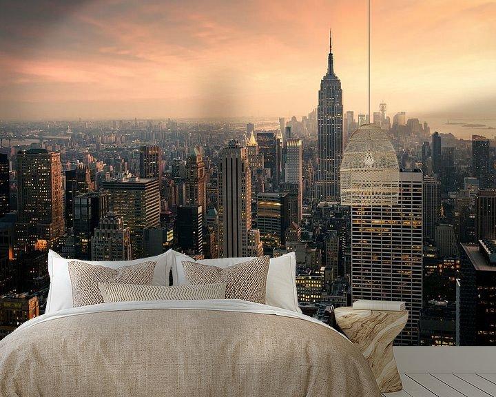 Sfeerimpressie behang: New York Panorama van Jesse Kraal