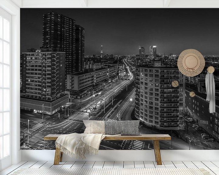 Sfeerimpressie behang: Westzeedijk in Rotterdam van MS Fotografie   Marc van der Stelt
