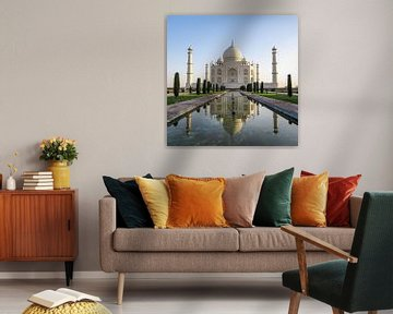 Taj Mahal in India weerspiegeld in het water van Niels Eric Fotografie