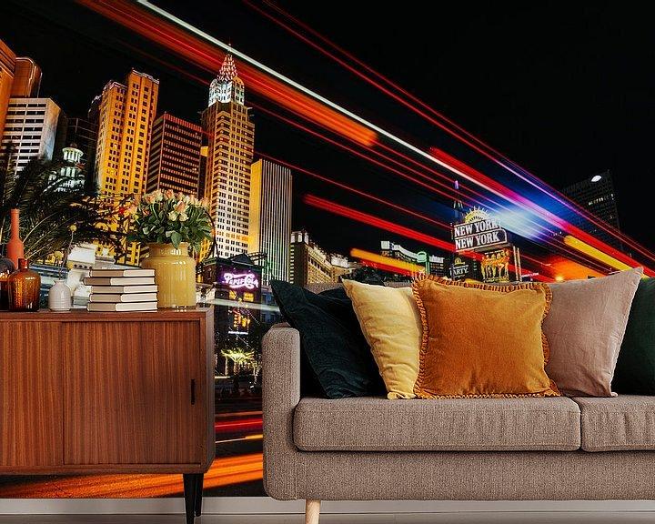 Sfeerimpressie behang: New York New York, Las Vegas van Bibi Veth
