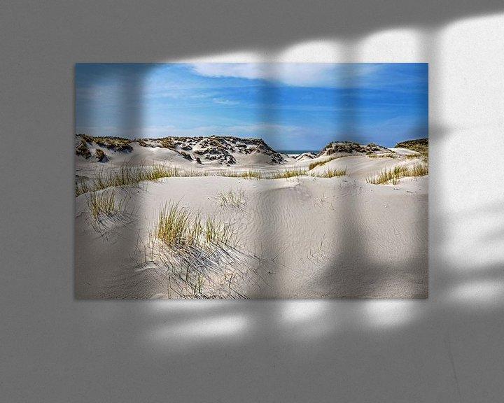 Sfeerimpressie: Duinlandschap op Noordzee-eiland Amrum van Frans Blok