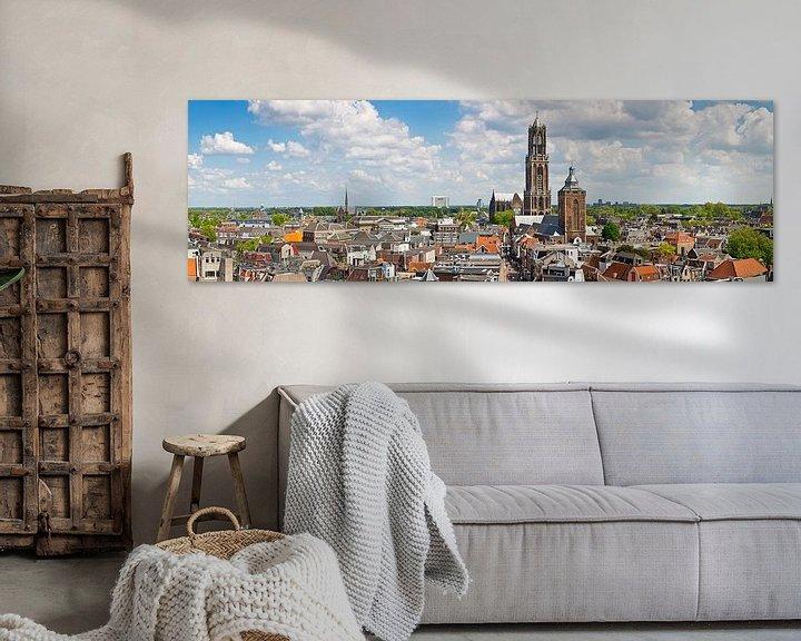 Sfeerimpressie: Panorama Dom toren te Utrecht van Anton de Zeeuw
