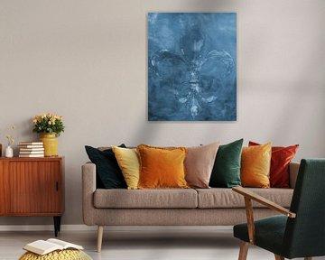 Abstracte achtergrond: Franse Lelie van Artstudio1622