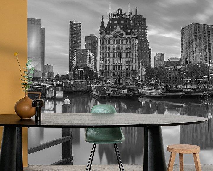 Sfeerimpressie behang: De Oude Haven in Rotterdam van Ilya Korzelius