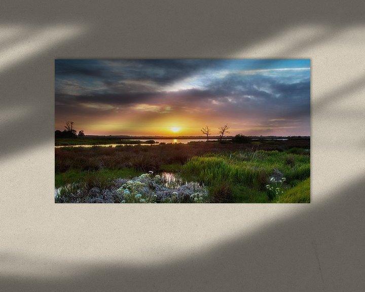 Sfeerimpressie: Zonsondergang Onlanden Drenthe Landschap van R Smallenbroek