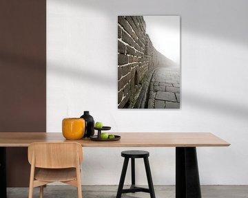 Chinese muur in de mist von Cindy Mulder