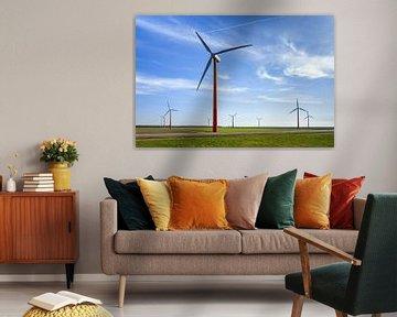Windmolenpark Flevoland van Dennis van de Water