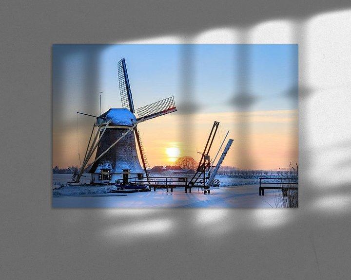 Sfeerimpressie: Winterse molen van Dennis van de Water