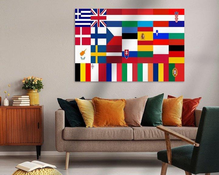 Sfeerimpressie: Vlaggen van de Unie 1: gerangschikt van Frans Blok