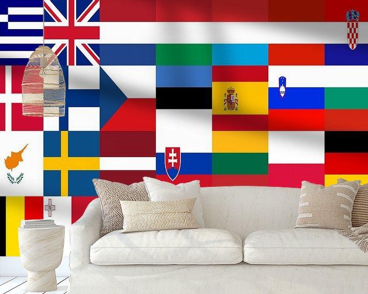 Sfeerimpressie behang: Vlaggen van de Unie 1: gerangschikt van Frans Blok