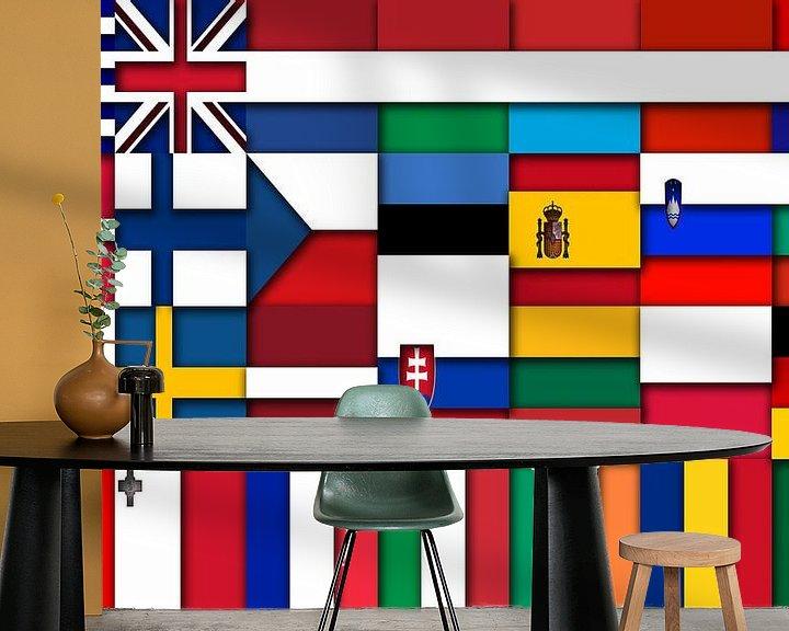 Beispiel fototapete: Fahnen der Union 2: relief von Frans Blok