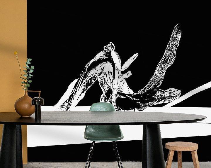 Sfeerimpressie behang: Artistieke Bloem in verval van Anna Pors