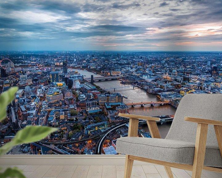 Sfeerimpressie behang: Londen vanuit The Shard van Roy Poots