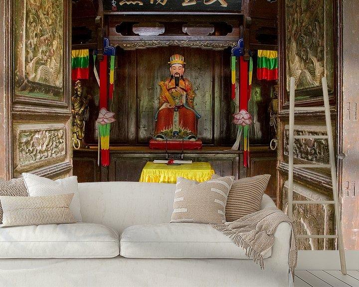 Sfeerimpressie behang: Tempeltje bij Baisha Frescoes van Cindy Mulder