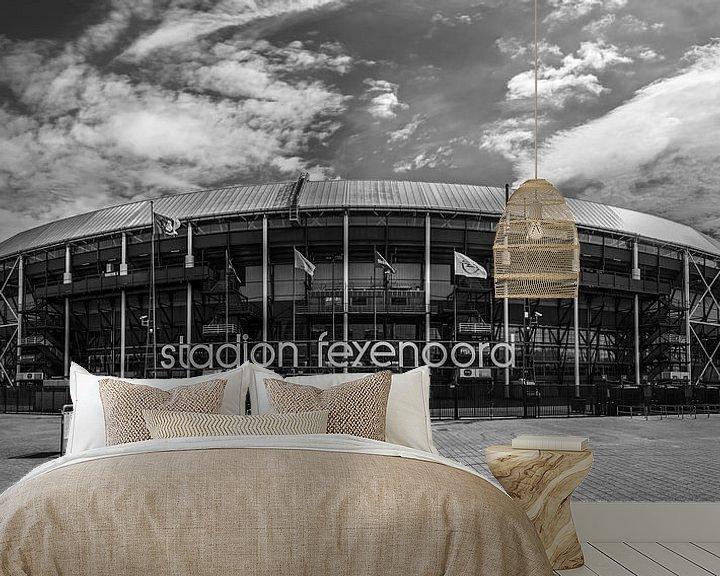 "Sfeerimpressie behang: Feyenoord Stadion ""De Kuip"" in Rotterdam van MS Fotografie   Marc van der Stelt"