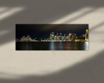 Sydney by Night in color, NSW Australie von Chris van Kan
