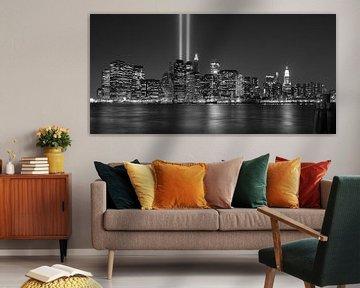 9/11 in New York, by night von Chris van Kan